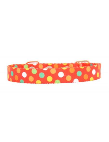 Collar Perro Flam 1,5 cm Rojo