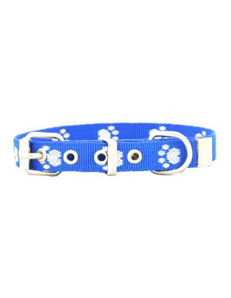 Collar Perro Huellita 2 cm  Azul