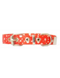 Collar Perro Lunar 1,5 cm  Rojo