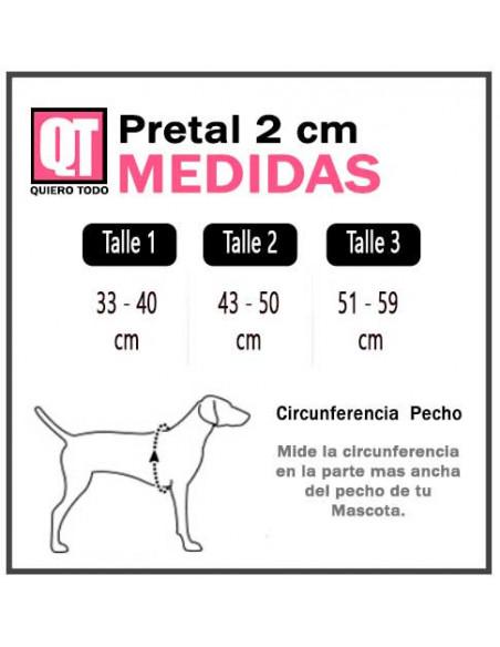 Pretal Perro Camuflado 2 cm