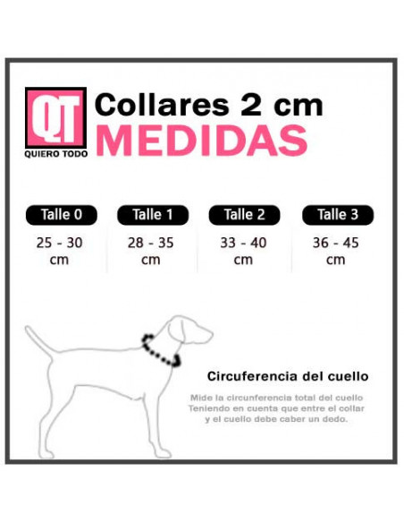 Collar Perro  Exclusivo Tela 2 cm