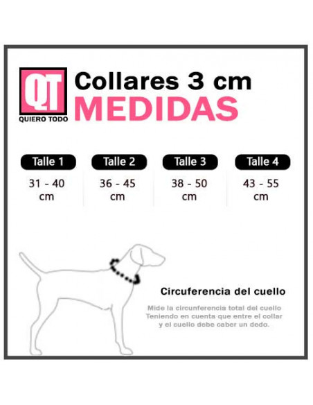 Collar Perro Exclusivo Tela 3 cm
