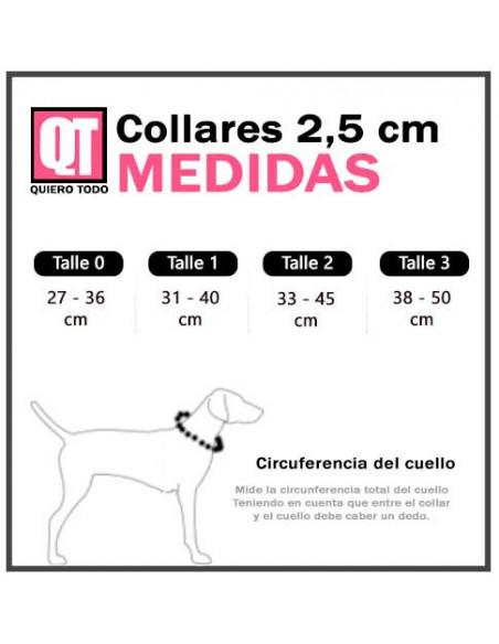 Collar Perro Camuflado 2,5 cm