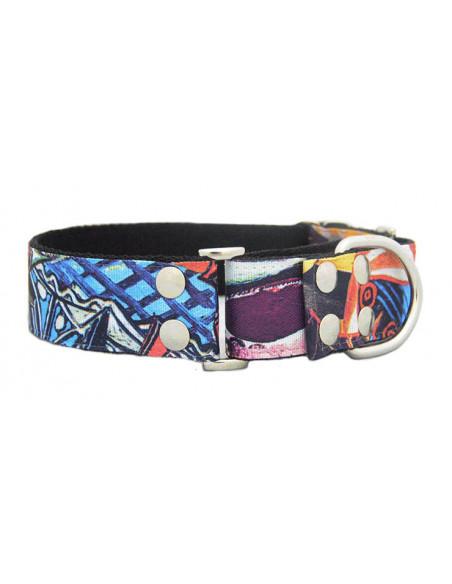 Collar Perro Galgo Martingale Black Premium