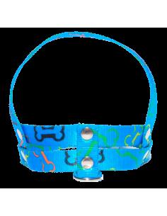 Pretal Perro Huesito 1,5 cm Azul