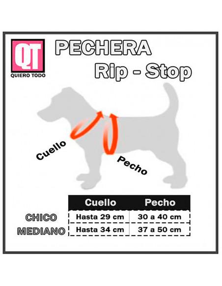 Pechera Perro Rip Stop Medidas