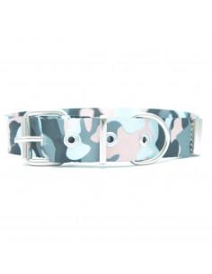 Collar Perro Camuflado Gris 3 cm
