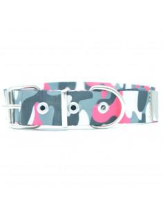 Collar Perro Camuflado Fucsia 3 cm