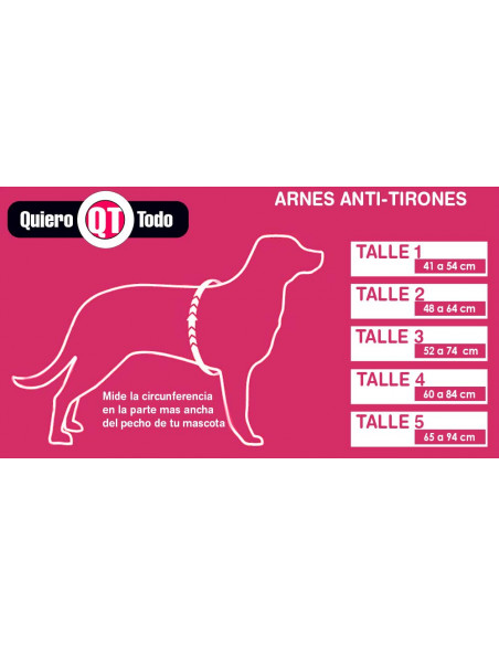 Arnes anti tirones (Simil Easy Walk) 25mm Medidas