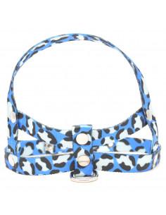 Pretal Perro Cheetah Azul 1,5 cm