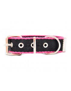Collar Perro Negro-Fucsia 3 cm