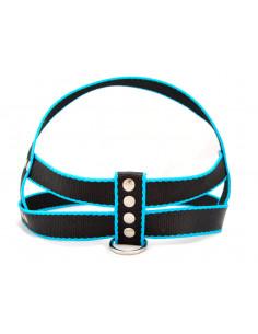 Pretal Perro Negro-Turquesa 3 cm