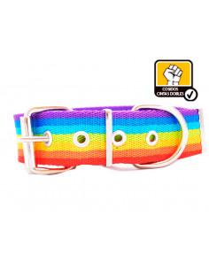 Collar Perro Rainbow 4cm Doble