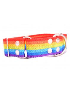 Collar Perro Galgo Martingale Rainbow 4 cm