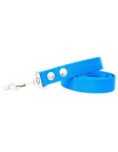 Correa Perro Lisa  2cm Azul