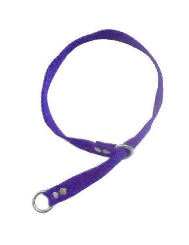 Collar Perro Ahorque 2 cm Violeta
