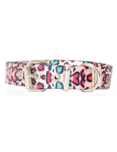 Collar Perro  Animal Print 2 cm