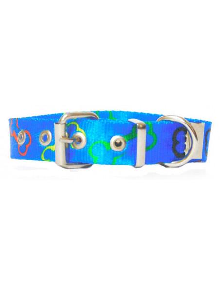 Collar Perro Huesito 2 cm azul