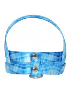 Pretal Perro Cuadrille 2 cm Azul