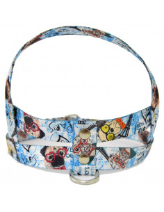Pretal  Perro Dog 2 cm Azul