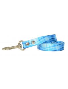 Correa Perro Cuadrille 2 cm Azul