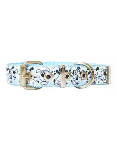 Collar Perro Dogy 2 cm Celeste