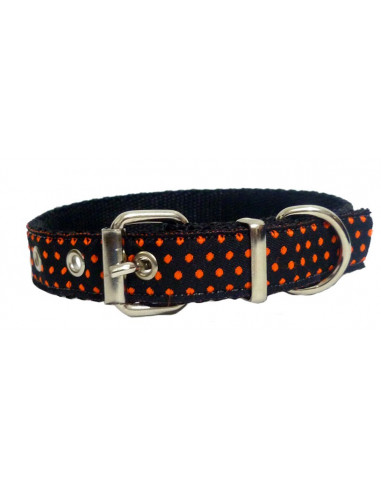 Collar Perro Lunar 2 cm Naranja
