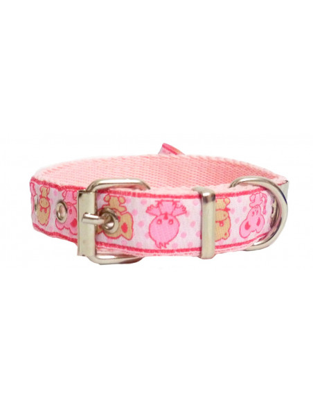 Collar Perro AnimalPink 2 cm