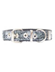 Collar Perro Army  2 cm Gris