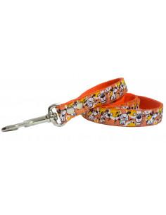 Correa Perro Doggy 2 cm Naranja
