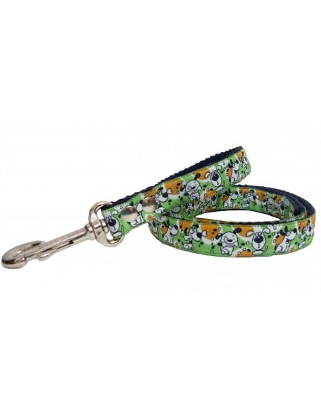 Correa Perro Doggy 2 cm Verde