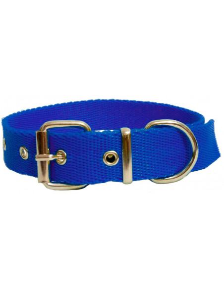 Collar Perro Liso 2,5 cm Azul