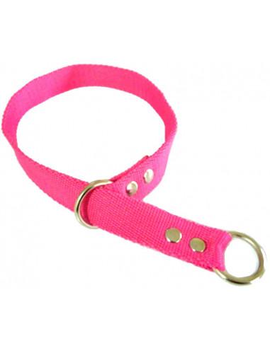 Collar Perro Ahorque 2,5 cm Fuxia