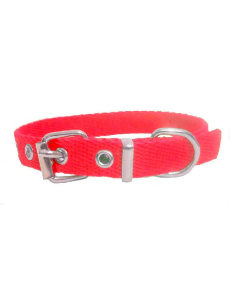Collar Perro Liso 1,5 cm Rojo