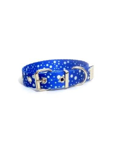 Collar Perro Lunar 2,5 cm Azul