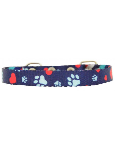 Collar Perro Heart  1,5 cm Marino