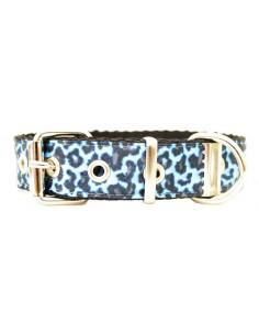 Collar Perro Leo 2,5 cm Azul