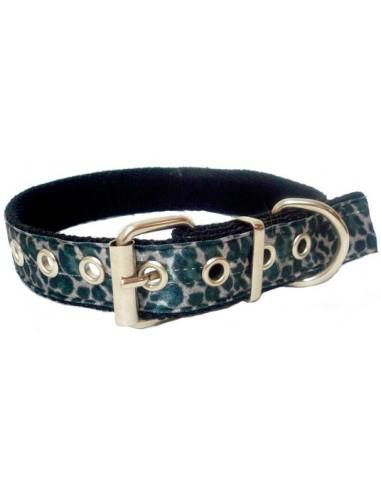Collar Perro Leo 2,5 cm Gris