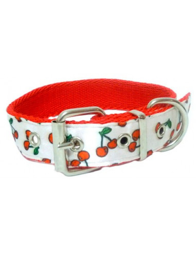 Collar Perro Cereza 2,5 cm