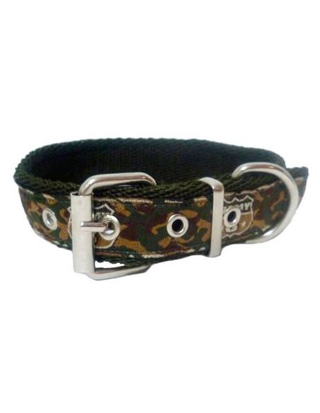 Collar Perro Army 2,5 cm Verde