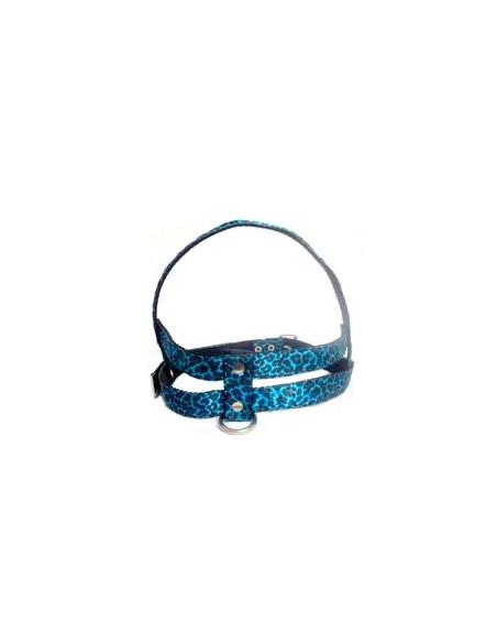 Pretal Perro  Leo 2,5 cm Azul