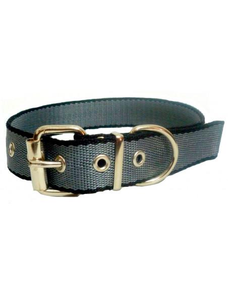 Collar Perro  Negro-Gris 3 cm