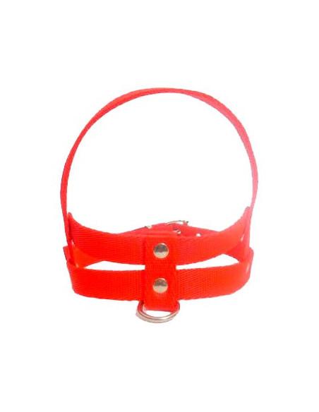 Pretal Perro Liso 3 cm Rojo