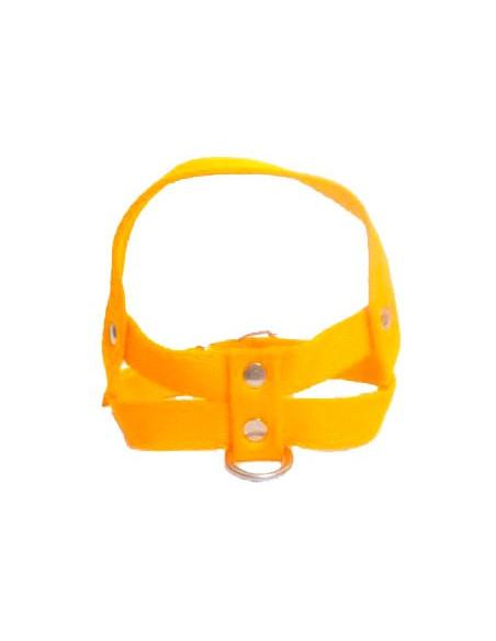 Pretal Perro Liso 3 cm Amarillo
