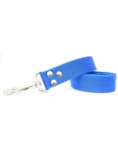 Correa Perro Lisa 3 cm Azul