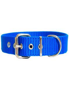 Collar Perro Militar 3 cm  Azul
