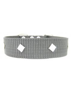 Collar Perro Militar Triangulo 5 cm Gris