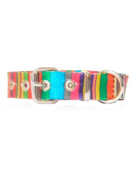 Collar Perro Rayas Vertical 1,5 cm