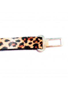 Cinto Seguridad Auto Perro Leopardo