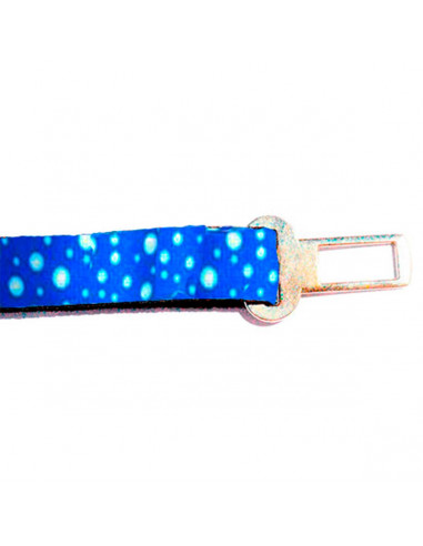 Cinto Seguridad Auto Perro Lunar Azul